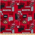 Colleigate Cotton Ohio State University Blocks Red/Black