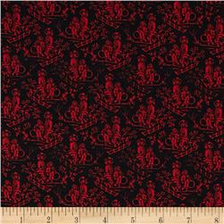 French Laundry Toile Black/Red Fabric