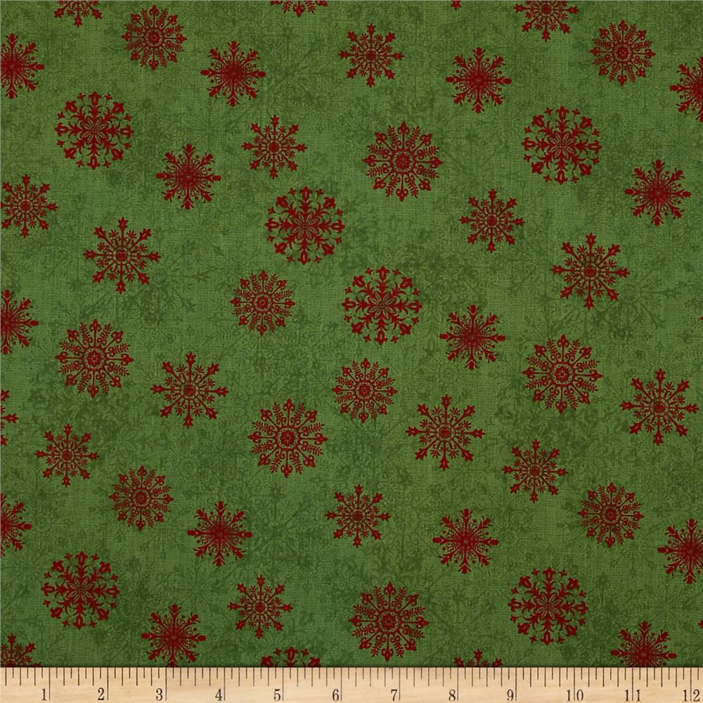 Tis The Season Snowflake Medallions Green/Red