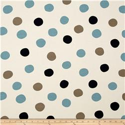 Birch Organic Mod Basics 3 Interlock Knit Pop Dots Stormy