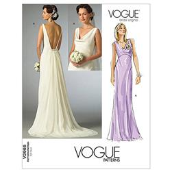 Vogue Misses' Dress Pattern V2965 Size AX0