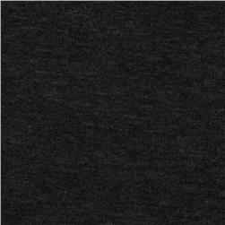 Brushed Rayon Poly Baby Rib Knit Heather Dark Charcoal