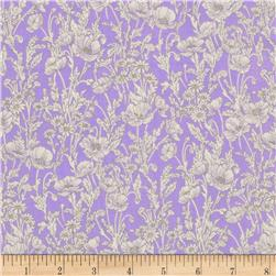 Watercolor Garden Floral Breeze Violet