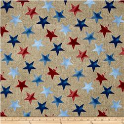 Oh My Stars Weathered Large Stars Linen/Multi