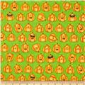 Toil & Trouble Pumpkins Allover Green
