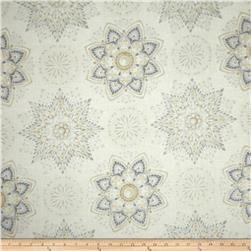 Robert Kaufman Winters Grandeur Metallic Snowflake Medallion Winter