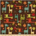 Riley Blake Giraffe Crossing Giraffe Main Brown