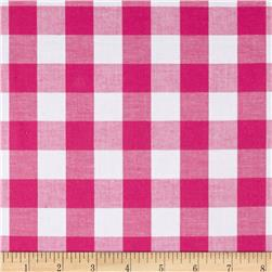 Woven Cotton Plaid Pink/White