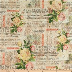 Tim Holtz Electric Elements Wall Flower Rose Parcel Multi