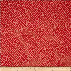 Indian Batiks Maze Orange