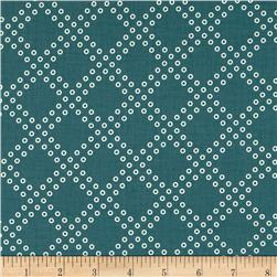 Cotton & Steel Mochi Dottie's Cousin Teal Fabric
