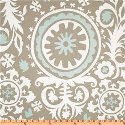 Premier Prints Suzani Twill Powder Blue Fabric