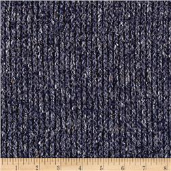 Sweater Knit Textured Navy