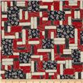 Mia Country Flock Digital Print Wood Block Patch Red