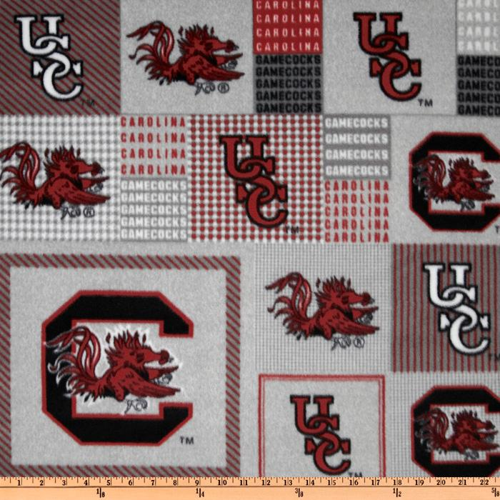 Collegiate Fleece University of South Carolina Plaid Blocks Red/Gray