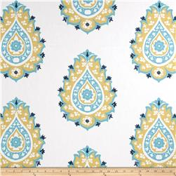 Premier Prints Damask Saffron/Coastal Blue