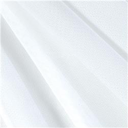 Lightweight Stretch Shaper Mesh White Fabric