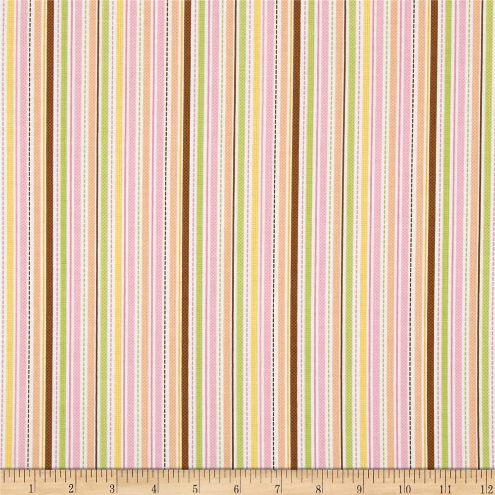Riley Blake Sweet Baby Girl Sweet Stripes Multi