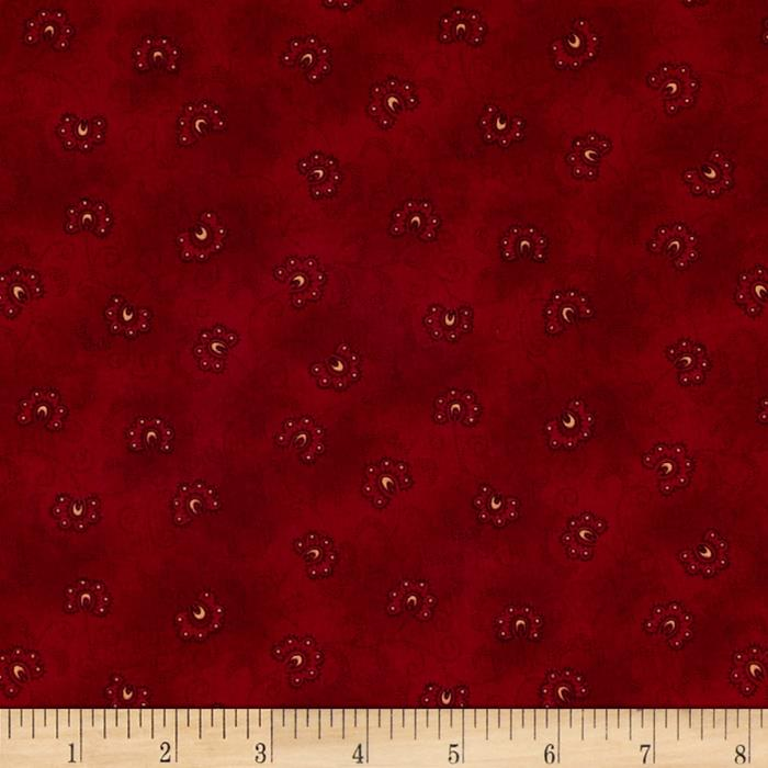 Winter Blessings Stylized Floral Red