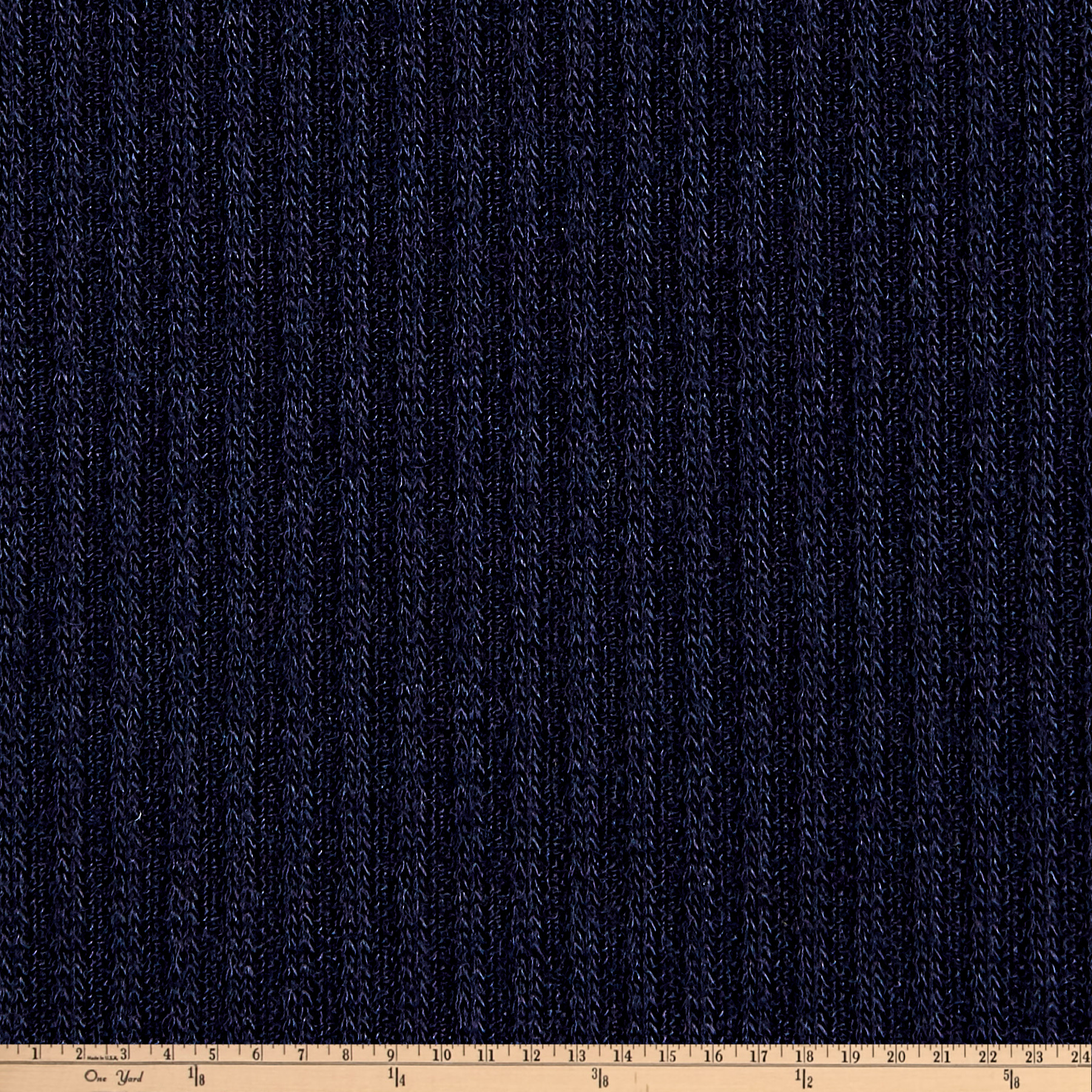 2X1 Rib Knit Navy Fabric 0451287