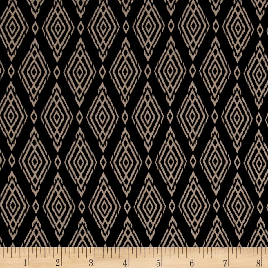 Crepe De Chine Diamonds Black/Tan