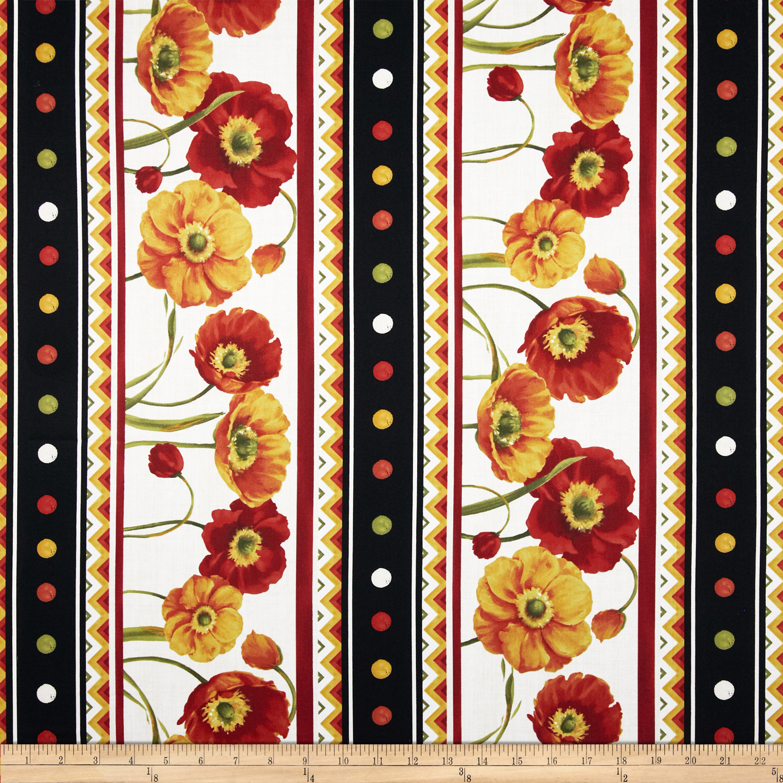 Poppy Love Repeating Stripe Multi Fabric