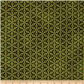 Kaufman Imperial Collection Metallic Grid Green
