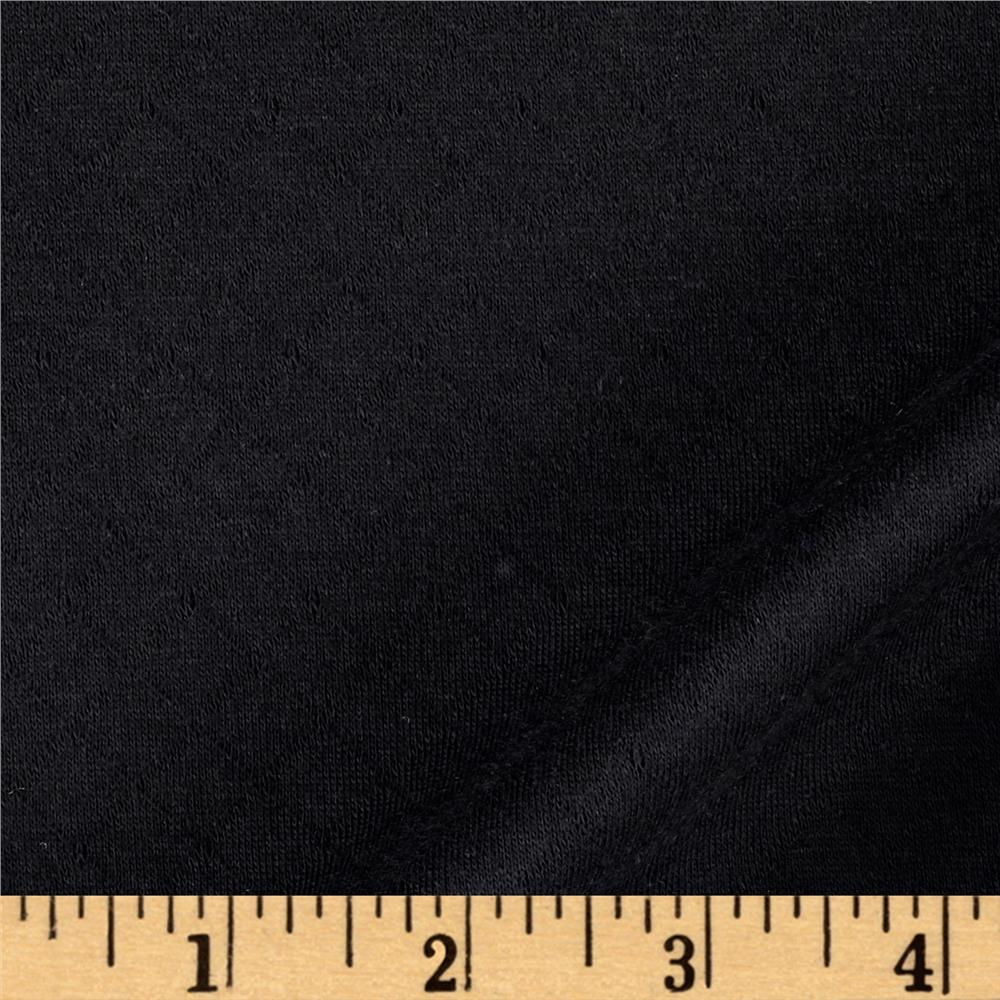 Double Knit Quilted Small Diamond Black