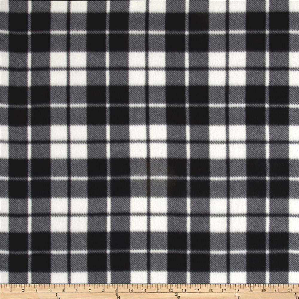 Fleece Plaid White/Black