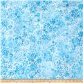 Kaufman Artisan Batiks Snowflake Metallic Collage Winter