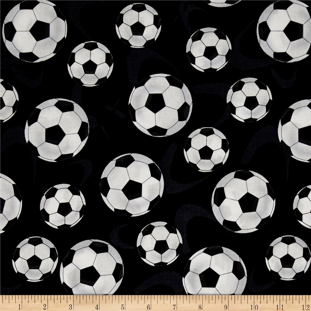 Score! Large Tossed Soccer Balls Black
