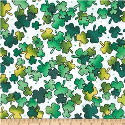 A Wee Bit Irish Shamrocks White