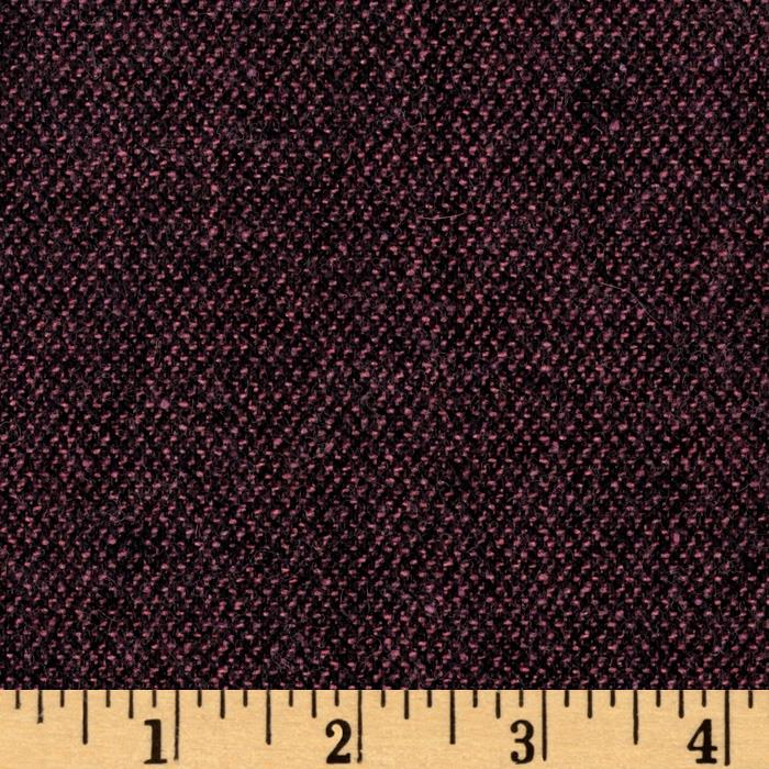 Wool Blend Coating Black/Pink