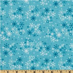 Santa's Workshop Snowflake Blue