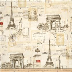 I Dream Of Paris Collage Tan