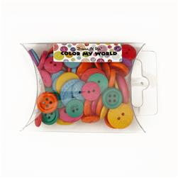 Dress It Up Color Me Collection Pillow Pack Buttons My World Multi