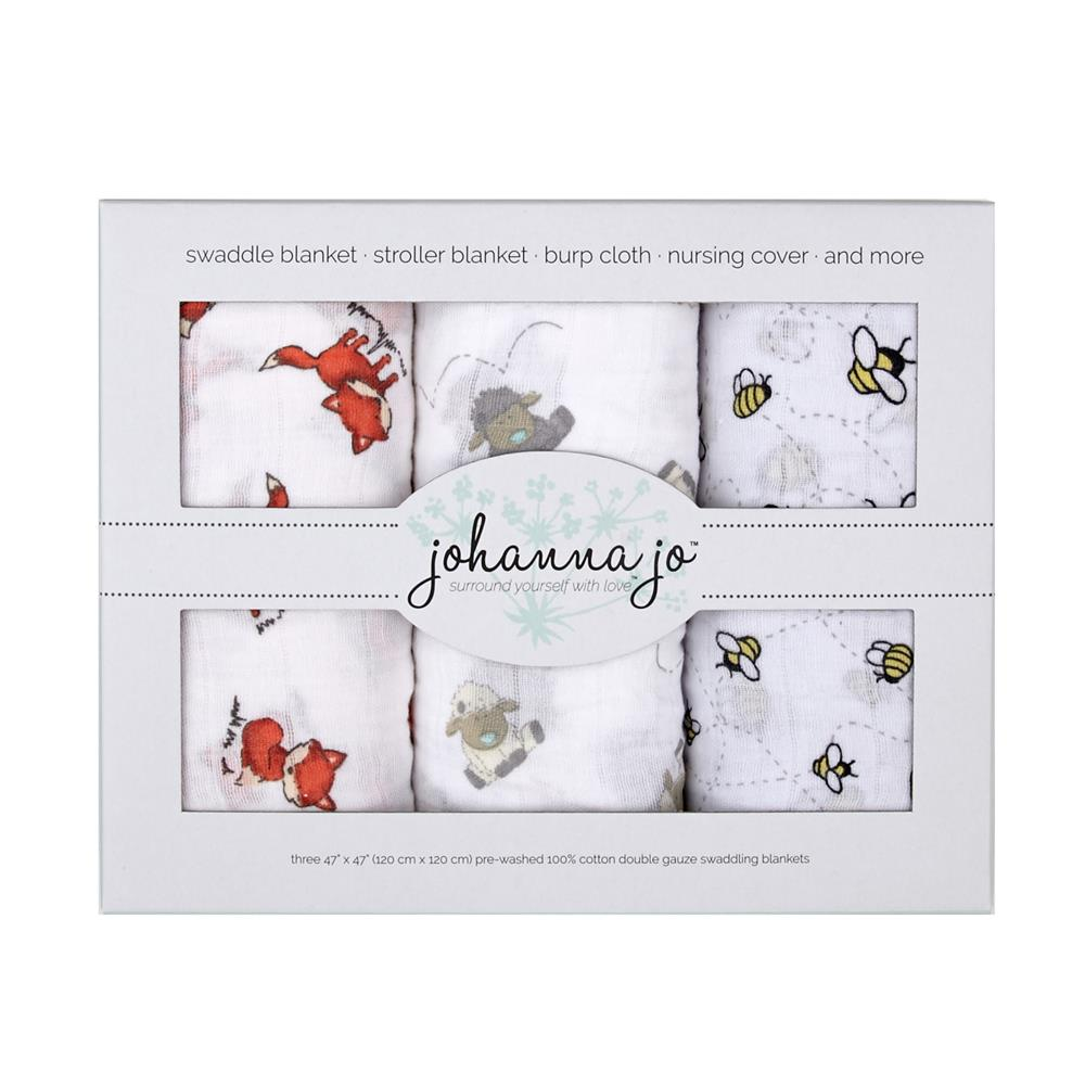 Shannon Embrace Double Gauze Swaddle 3 Pack Lambie
