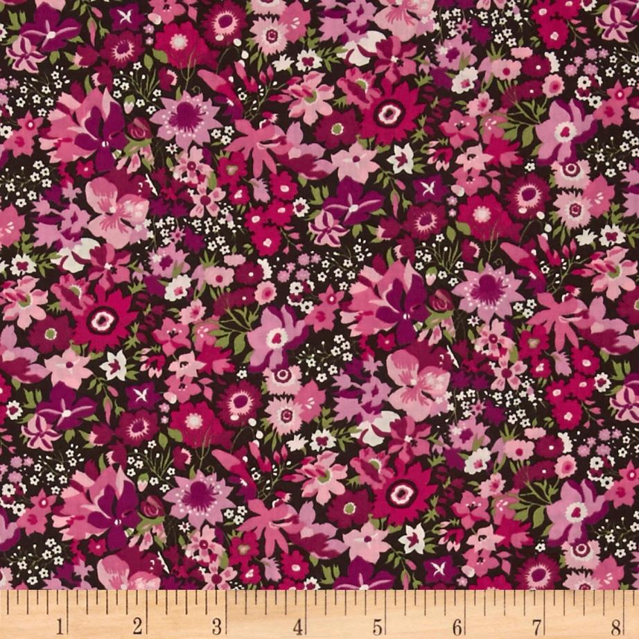 Liberty Of London Tana Lawn Manuela Hunter Green/Light Pink/Magenta