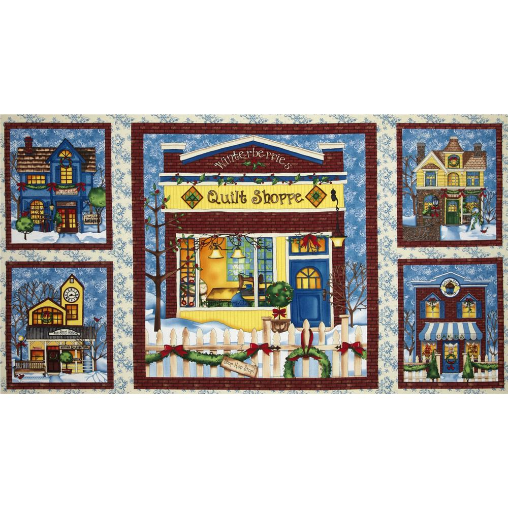 All Around The Town Craft Panel Ivory