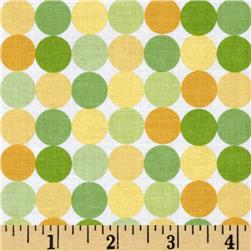 Riley Blake Snips & Snails Dots Yellow Fabric