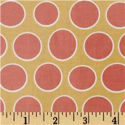Riley Blake Valencia Laminated Cotton Dot Yellow