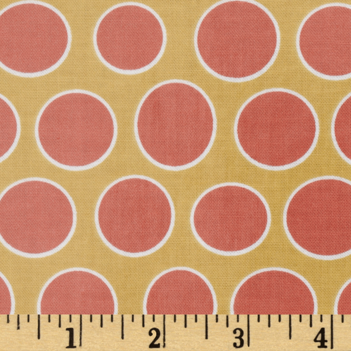 Riley Blake Valencia Laminated Cotton Dot Yellow Fabric
