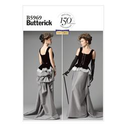 Butterick Misses' Corset and Skirt Pattern B5969 Size A50