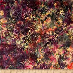 Bali Batiks Handpaints Swirls Mulberry