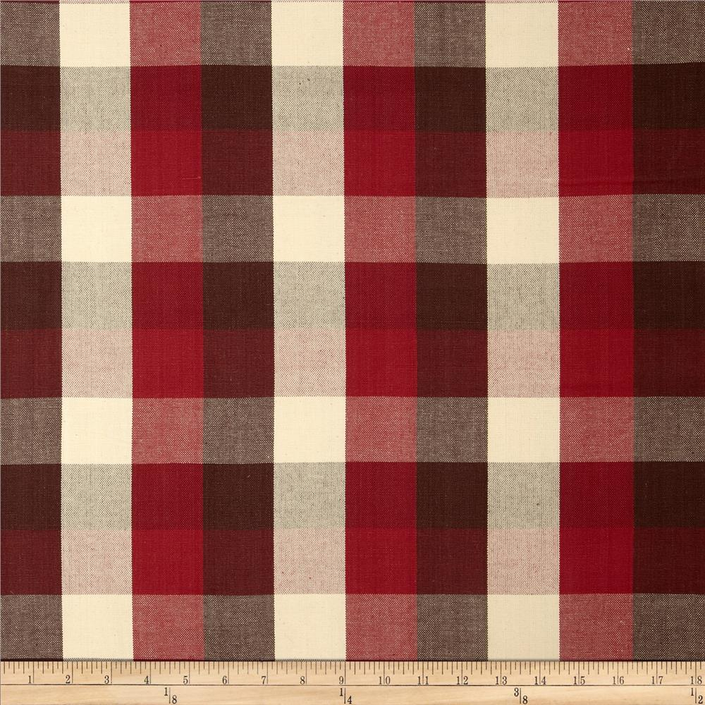 Bartow Buffalo Check Plaid Woven Cranberry