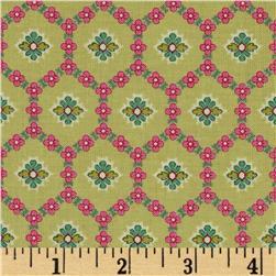 Little Red Riding Hood Trellis Retro Fabric