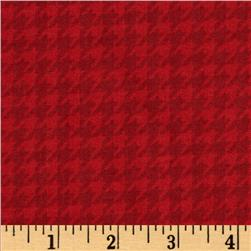 Kimberbell's Merry & Bright Houndstooth Red Fabric