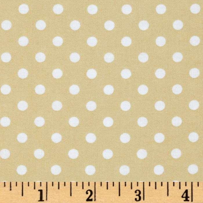 Michael Miller Dumb Dot Beige Fabric