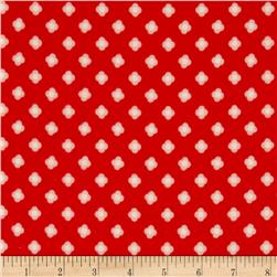 Riley Blake Acorn Valley Flannel Bloom Dot Red