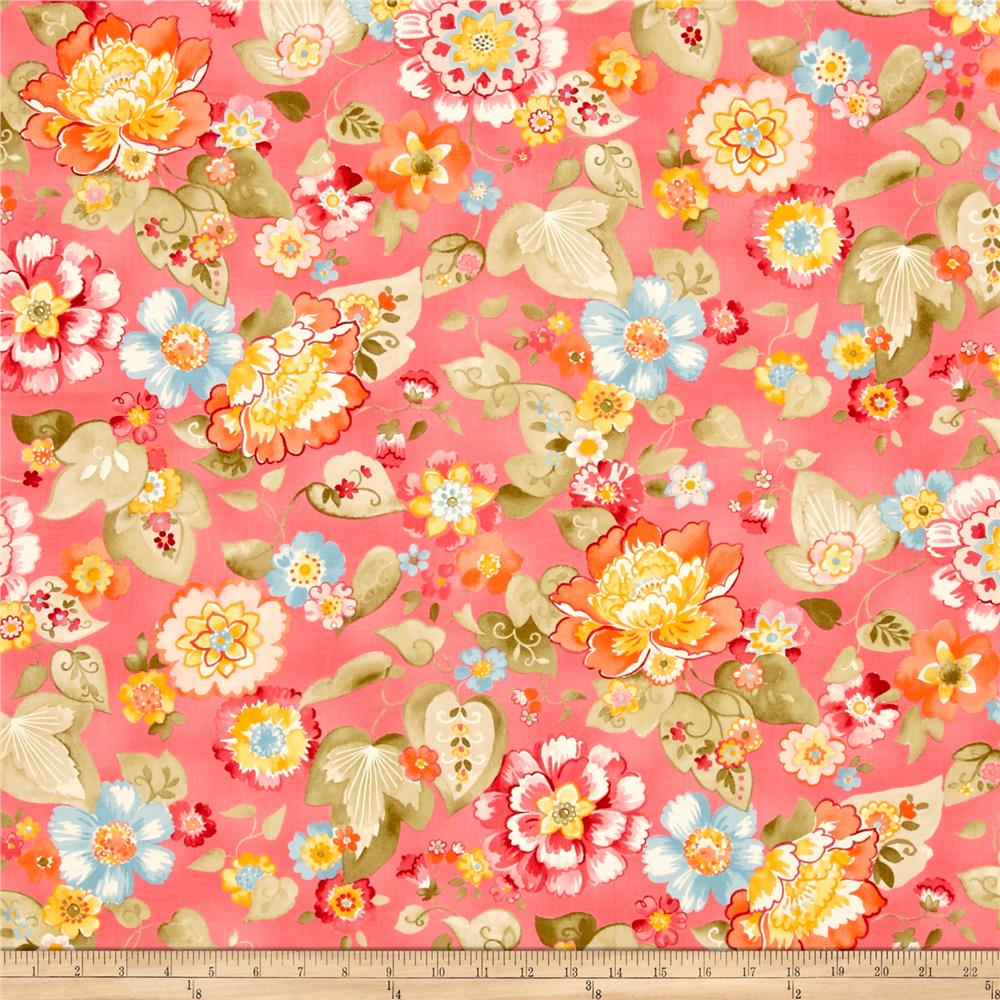 Moda Nanette Floral Flourish Rose Fabric
